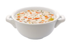 Chowder Bowl (clipping path) Royalty Free Stock Images