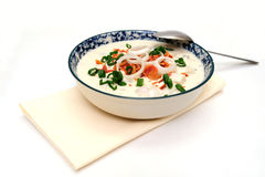 Clam Chowder New England Style Stock Photos