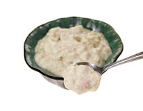 Clam Chowder Spoon Angle Stock Photography