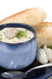 Clam Chowder - vertical Stock Image