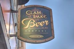 Clam Lake Beer Company, Cadillac, Michigan Stock Photo