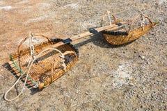 Clam-shell shaped basket Royalty Free Stock Photo
