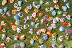 Clam shells souvenirs. Painted figures Royalty Free Stock Photography