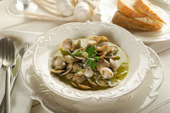 Clam soup Royalty Free Stock Photo