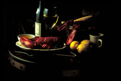 Clambake. Moody shot of clambake dinner Royalty Free Stock Photography