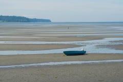 Clamming à marée basse photos stock