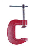 Clamp. Great red g clamp on white background Stock Photos