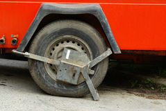 Clamp on car wheel stock photos
