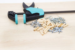 Clamp carpentry Royalty Free Stock Image