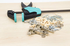Clamp carpentry Royalty Free Stock Photography