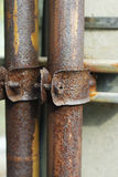 Clamp collar for old pipe with screw Stock Image