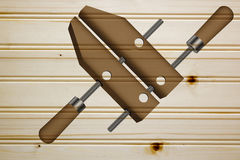 Clamp for fixing wooden blanks Royalty Free Stock Photography