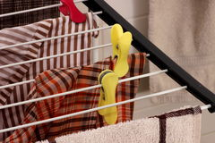 Clamp and laundry Stock Image