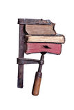 Clamp with old books Royalty Free Stock Photo
