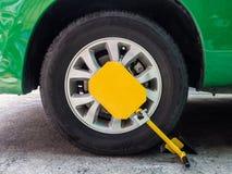 Clamp vehicle, wheel lock Royalty Free Stock Photos