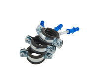 Clamp for water pipes. Metal clamp for installation of water pipes Stock Photography
