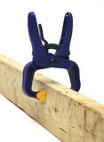 Clamp on wood Stock Images