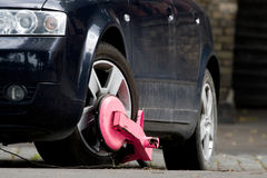 Clamped car Royalty Free Stock Photo