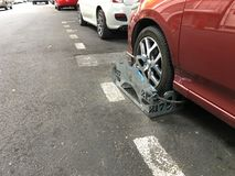 Clamped Car in the street Stock Image
