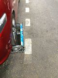 Clamped Car in the street Royalty Free Stock Photos