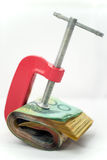 Clamped Paper Money Royalty Free Stock Image