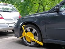 Clamped vehicle Stock Photo