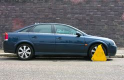 Clamped vehicle Royalty Free Stock Photo