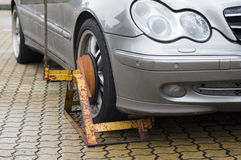 Clamped Wheel Royalty Free Stock Photos