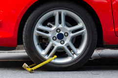 Clamped wheel Stock Images