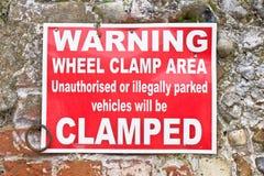 Clamping sign Stock Photos