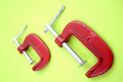 Clamps Royalty Free Stock Image