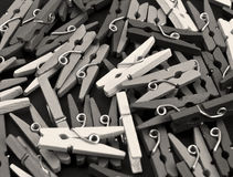 Clamps in black and white Stock Photography