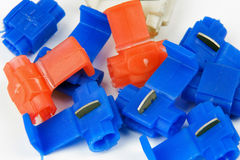 Clamps of electrical car installation Royalty Free Stock Photography