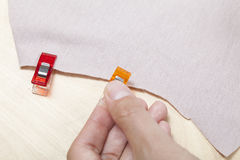 Clamps to fabric Stock Images