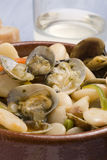 Clams and beans,Asturias style.Spanish cuisine. Stock Photography