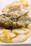 Clams and beans.Spanish cuisine. Stock Images