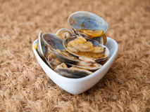 Clams cooked in the recipe Stock Photography
