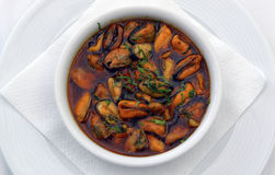 Clams. Manhattan clam chowder. farm-style,farmhous e kitchen Royalty Free Stock Image