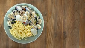 Clams Pasta Seafood Dish Royalty Free Stock Photo
