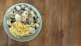 Clams pasta seafood dish Royalty Free Stock Photo