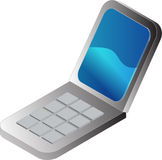 Clamshell cellphone illustrati Royalty Free Stock Photos