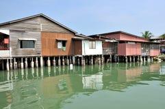 Clan-Anlegestellen von Penang Stockfotos