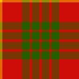 Clan cameron tartan seamless background Stock Images