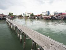 Clan jetties, Penang. UNESCO Heritage site, Malaysia Stock Images