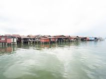 Clan jetties, Penang. UNESCO Heritage site, Malaysia Royalty Free Stock Images