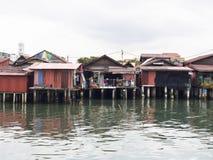 Clan jetties, Penang. UNESCO Heritage site, Malaysia Royalty Free Stock Photos