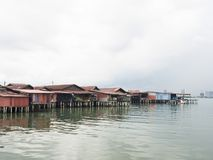 Clan jetties, Penang. UNESCO Heritage site, Malaysia Royalty Free Stock Photography
