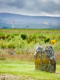 Clan Macklintosh memorial on the Culloden battle field stock photos