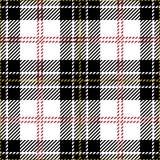 Clan Macpherson Tartan Plaid Seamless Scottish Pattern. Black and white tartan plaid seamless Scottish pattern design of clan Macpherson stock illustration