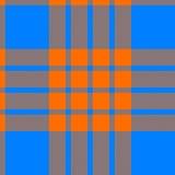 Clan tartan seamless background orange and blue Royalty Free Stock Photo